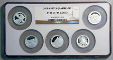 2012-S SILVER QUARTER PROOF SET IN NGC MULTI-SLAB PF-70 ULTRA CAM