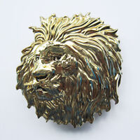 Men Belt Buckle Original Lion Head Belt Buckle Gurtelschnalle Boucle de ceinture