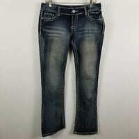 Maurices Boot Cut Womens Dark Wash Blue Jeans Size 7/8