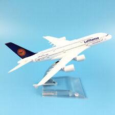 Modellino metallo pressofuso 1:400 Airbus A380-800 Lufthansa aereo collezione