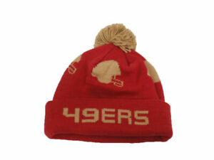 Mitchell & Ness NFL San Francisco 49ers Knit Beanie Cuff Cap With Pom Hat