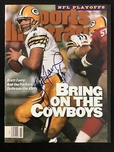 Brett Favre Signed Sports Illustrated 1/15/96 No Label Packers Auto HOF JSA