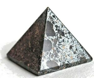 Reiki Healing Energy Hematite Crystal Gemstone Natural Pyramid Gift Wrapped