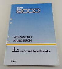 Workshop Manual Saab 9000 Ships Garantieservice Model Year 1989