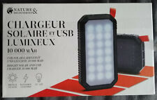 Chargeur solaire / USB solar charger - 10000 mAh - Neuf / New