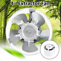 "4"" 220V Ventilation Extractor Exhaust Fan Wall Mounted Bathroom Kitchen Toilet"