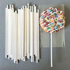 "6"" White Paper Lollipop Sticks, Paper Cake Pop Sticks, Paper Sucker Sticks"