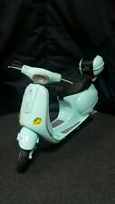 VINTAGE VESPA PIAGGIO BARBIE SCOOTER MOPED AQUA BLUE MATTEL INC.TOY 2002 CHINA