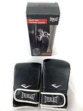 Everlast Black Wristwrap Heavy Bag Training Gloves Size Large with Original Box