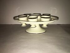 Staffordshire Creamware Egg Cup Stand With Cups Ca. 1820's