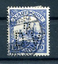 Kiautschou Firmenlochung Perfin 31 Impeccable Postmarked (H4761