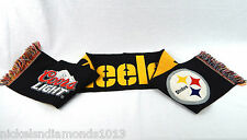 """Pittsburgh Steelers NFL / Coors Light Winter Scarf 52"""" Long Perfect Cond."""