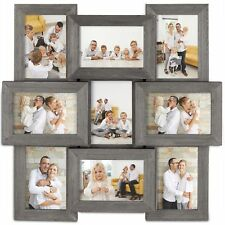 VonHaus 9X Decorative Collage Picture Frames for Multiple 4x6 Photos - Grey Wood