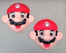VINTAGE Super Mario Brothers Nintendo MARIO HALLOWEEN MASK Costume Lot 1988 NEW