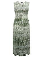 Women's Size 12/14,16/18,20/22,24/26 Gorgeous Khaki Sleeveless Maxi Dress (b9)