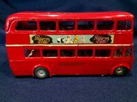 Vintage Tri-ang Minic Toys Tin Key Wind London Double Decker Bus Pedigree Dolls