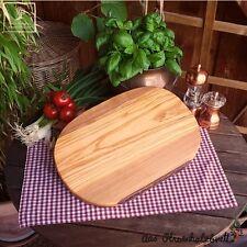 Brotzeitbrett aus Olivenholz Schneidebrett Frühstücksbrett Holz ca. 35cm lang