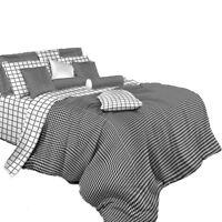 King Duvet Cover Set - 6 Piece Luxury 100% Cotton Dolce Mela Bedding DM497K