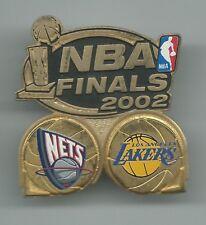 New Jersey Nets Los Angeles Lakers NBA Finals 2002 Pin Peter David, Inc. OOP