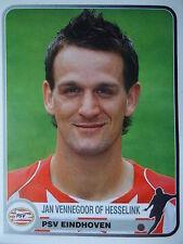 Panini 310 Jan Vennegoor of Hesselink PSV Eindhoven Champions Europe 1955-2005