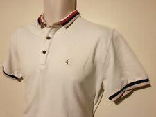GABICCI Retro Mod Ska Casuals White Polo Shirt - Size Medium