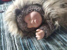 New ListingVintage Anne Geddes Hedgehog Sleeping Baby Doll In Animal Suit Collectible 1999