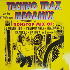 LP Various ‎– Techno Trax Megamix ,NEAR MINT,cleaned,ZYX Music ZYX 7050-12