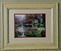 """Thomas Kinkade Matted Framed  """"The Garden of Prayer""""  COA"""