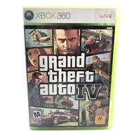 Grand Theft Auto IV GTA 4 w/ map Complete CIB Microsoft Xbox 360 Game Tested