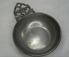 "KMD Tiel Royal Holland Pewter Porringer Dish 4"" Diameter. Coin / Trinket / Dish"
