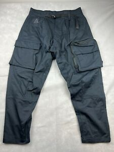 NIKE NRG ACG Woven Black Cargo Pants Mens Size Medium M NWOT