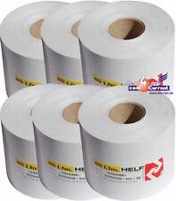 Thermopaper 6 Label Rolls Stickertickets Thermorollen for Barcode Blaster