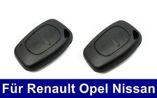 2x sustituto carcasa llave para Renault Kangoo Clio nissan Interstar Opel