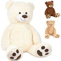 BRUBAKER XXL Teddybär 100 cm groß - Stofftier Plüschtier Kuscheltier Plüschbär