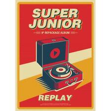 SUPER JUNIOR [REPLAY] 8th Repackage Album CD+FotoBuch+FotoKarte K-POP SEALED