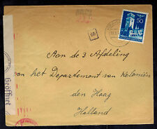 1941 Krakow Poland Germany GG Cover to Colonial Office Hague Netherlands Holland