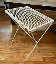 Vintage Wire Metal Painted Patio End Side Table
