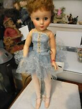"""19"""" Vintage Hard Plastic and vinyl  ballerina doll with jointed knees and ankles"""
