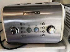 Kitchen Aid cream and silver toaster
