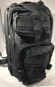 Black Emergency Survival Backpack Essential Bug out Bag Zombie Hurricane Hiking