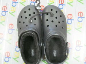 Crocs Classic Lined Clog Unisex Women's 8 Mens 6 Black Roomy Fit Shoe