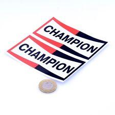 Champion Spark Plugs Autocollants Classique Voiture Moto Racing Vinyle Autocollants 100 mm x2