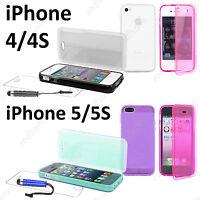 Housse Coque Etui Portefeuille Livre Silicone Gel Apple iPhone 4 4S 5 5S 5C 6