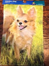 "Chihuahua Garden Mini Flag 12"" x 18"" Top Paw Nylon Dog Lover  New Free Shipping"