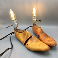Antique Wooden Florsheim Shoe Last Form Stretcher Pair of Lamps