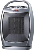PowerZone Oscillating Heater Fan With Thermostat 750 1500 W PTC06L