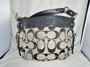 BEAUTIFUL Coach Zoe Hobo Signature Purse / Bag j0920-f12657 black authentic