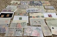 WORLDWIDE STAMPS LOT IN GLASSINES OFF PAPER. FROM 25 WW COUNTRIES. NO U.S.
