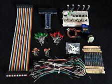 Raspberry Pi 3 Model B & B+ GPIO Electronic Project Starter Kit,LED,SG-90,Buzzer