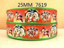 1M OF MICKEY + MINNIE MOUSE XMAS CHRISTMAS RIBBON IN SIZE 1 INCH HEADBANDS BOWS